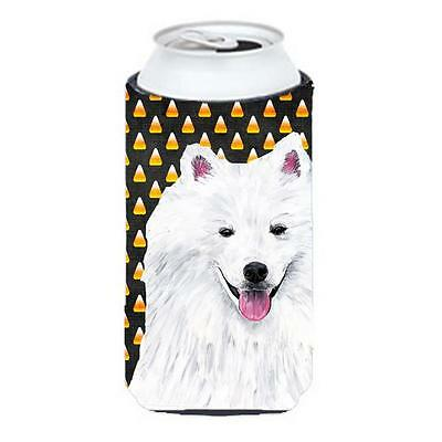 American Eskimo Candy Corn Halloween Portrait Tall Boy Hugger