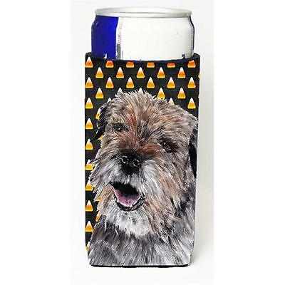 Border Terrier Halloween Candy Corn Michelob Ultra bottle sleeve for Slim Can