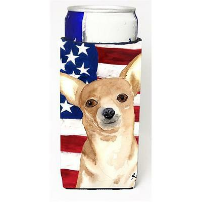 Usa American Flag Chihuahua Michelob Ultra bottle sleeve for Slim Can