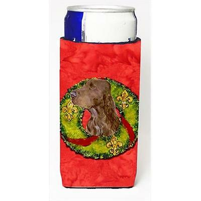 Field Spaniel Cristmas Wreath Michelob Ultra bottle sleeves For Slim Cans