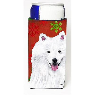 American Eskimo Red and Green Snowflakes Holiday Christmas Michelob Ultra s f...