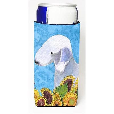 Bedlington Terrier In Summer Flowers Michelob Ultra bottle sleeves For Slim C...
