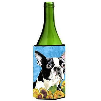 Carolines Treasures SC9063LITERK Boston Terrier Wine bottle sleeve Hugger 24 oz.
