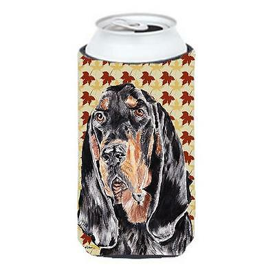 Carolines Treasures Coonhound Fall Leaves Tall Boy bottle sleeve Hugger