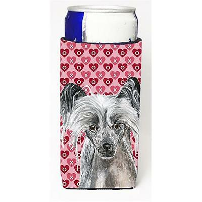 Chinese Crested Valentines Love Michelob Ultra bottle sleeves for slim cans 1...