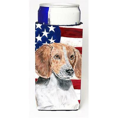 English Foxhound Usa American Flag Michelob Ultra bottle sleeve for Slim Can
