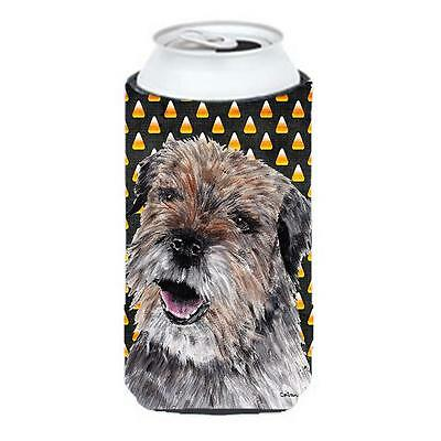 Border Terrier Halloween Candy Corn Tall Boy bottle sleeve Hugger