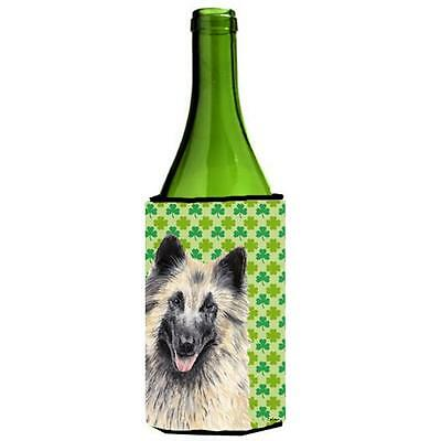 Belgian Tervuren St. Patricks Day Shamrock Portrait Wine bottle sleeve Hugger...