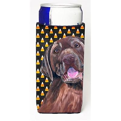 Labrador Chocolate Candy Corn Halloween Portrait Michelob Ultra s for slim cans