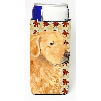 Golden Retriever Fall Leaves Portrait Michelob Ultra bottle sleeve for Slim Can