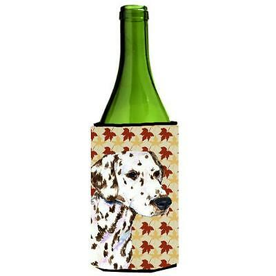 Dalmatian Fall Leaves Portrait Wine bottle sleeve Hugger 24 oz.
