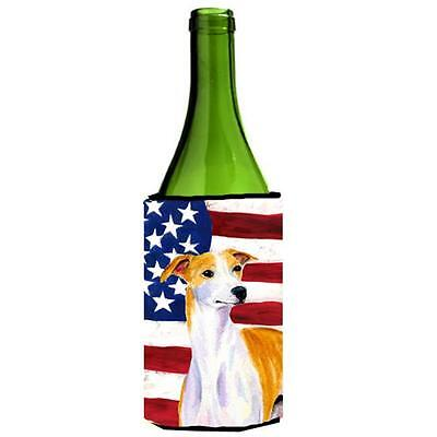 Usa American Flag With Whippet Wine bottle sleeve Hugger 24 Oz.