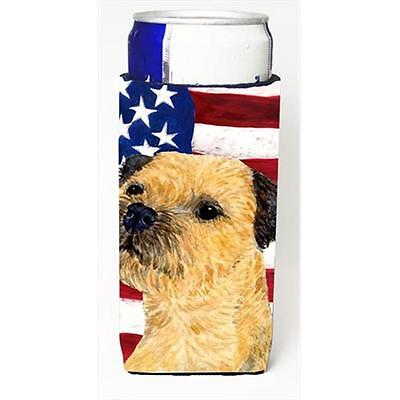 Usa American Flag With Border Terrier Michelob Ultra bottle sleeves For Slim ...
