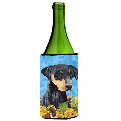 Carolines Treasures SC9073LITERK Doberman Wine bottle sleeve Hugger