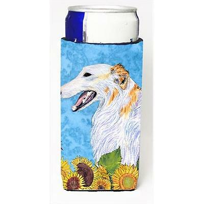 Borzoi In Summer Flowers Michelob Ultra bottle sleeves For Slim Cans 12 Oz.
