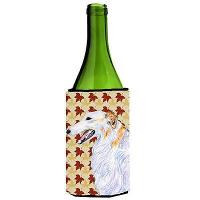 Carolines Treasures Borzoi Fall Leaves Portrait Wine bottle sleeve Hugger