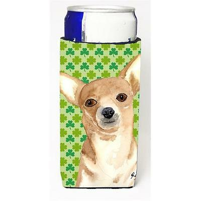 Chihuahua St Patricks Day Michelob Ultra bottle sleeves for slim cans 12 oz.