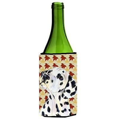 Carolines Treasures Dalmatian Fall Leaves Portrait Wine Bottle Hugger