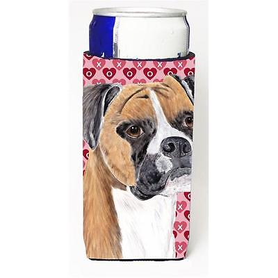 Boxer Hearts Love and Valentines Day Portrait Michelob Ultra bottle sleeve fo...