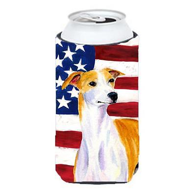 Usa American Flag With Whippet Tall Boy bottle sleeve Hugger 22 To 24 Oz.