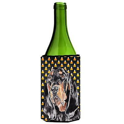 Carolines Treasures Coonhound Halloween Candy Corn Wine bottle sleeve Hugger