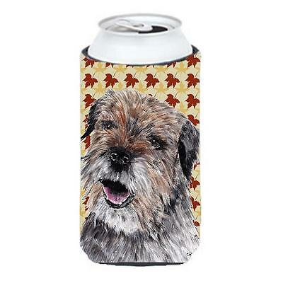 Carolines Treasures Border Terrier Fall Leaves Tall Boy bottle sleeve Hugger