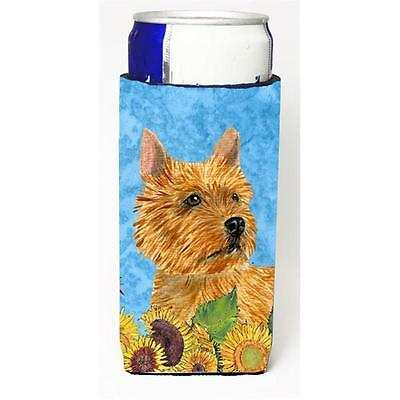 Norwich Terrier In Summer Flowers Michelob Ultra bottle sleeves For Slim Cans...