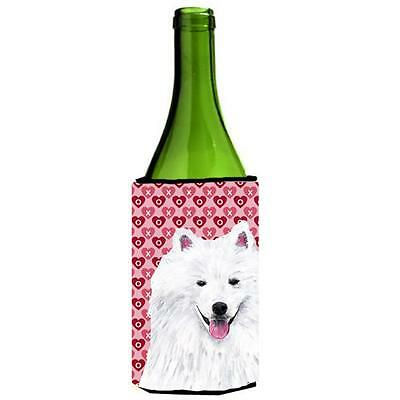 American Eskimo Hearts Valentines Day Portrait Wine bottle sleeve Hugger