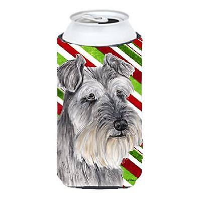 Schnauzer Candy Cane Holiday Christmas Tall Boy bottle sleeve Hugger 22 To 24...