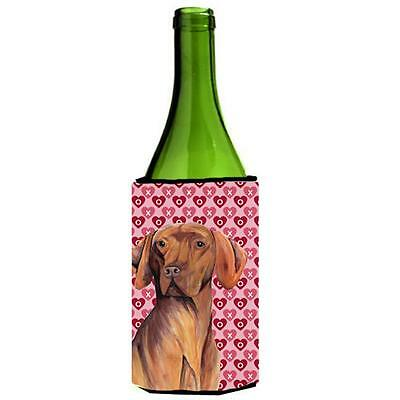Vizsla Hearts Valentines Day Portrait Wine bottle sleeve Hugger