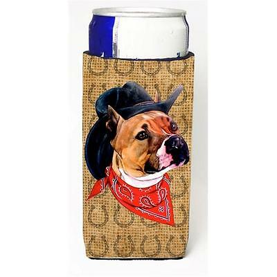 Pit Bull Dog Country Lucky Horseshoe Michelob Ultra bottle sleeves For Slim C...