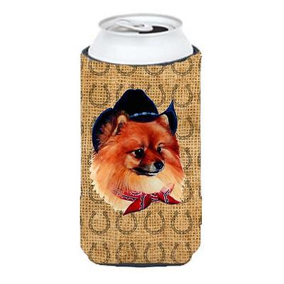Pomeranian Dog Country Lucky Horseshoe Tall Boy bottle sleeve Hugger 22 To 24...