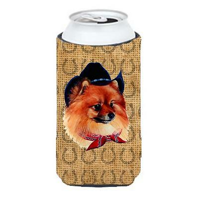 Pomeranian Dog Country Lucky Horseshoe Tall Boy bottle sleeve Hugger 22 To 24... • AUD 58.15