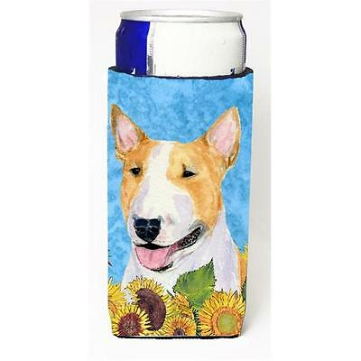 Bull Terrier In Summer Flowers Michelob Ultra bottle sleeves For Slim Cans 12...