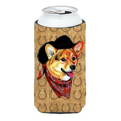 Corgi Dog Country Lucky Horseshoe Tall Boy bottle sleeve Hugger 22 To 24 oz.