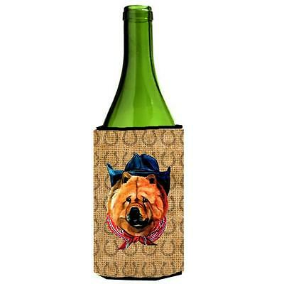 Chow Chow Dog Country Lucky Horseshoe Wine bottle sleeve Hugger 24 oz.