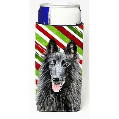Belgian Sheepdog Candy Cane Holiday Christmas Michelob Ultra bottle sleeves F...