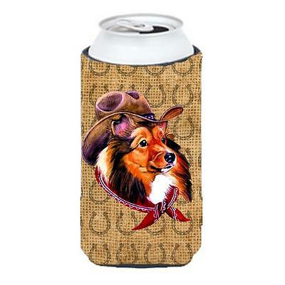 Sheltie Dog Country Lucky Horseshoe Tall Boy bottle sleeve Hugger 22 To 24 oz.