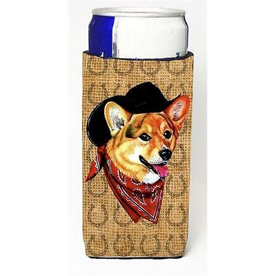 Corgi Dog Country Lucky Horseshoe Michelob Ultra bottle sleeves For Slim Cans...