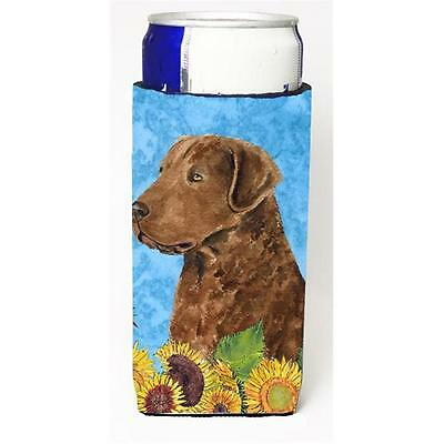 Curly Coated Retriever In Summer Flowers Michelob Ultra bottle sleeves For Sl...