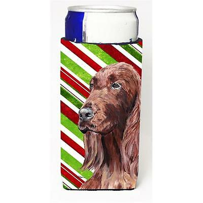 Irish Setter Candy Cane Christmas Michelob Ultra bottle sleeves For Slim Cans...