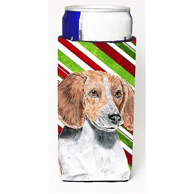 English Foxhound Candy Cane Christmas Michelob Ultra bottle sleeves For Slim ...