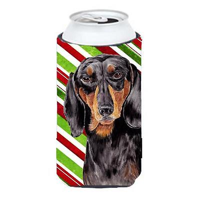 Dachshund Candy Cane Holiday Christmas Tall Boy bottle sleeve Hugger 22 To 24...