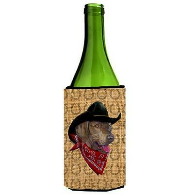 Weimaraner Dog Country Lucky Horseshoe Wine bottle sleeve Hugger 24 oz.