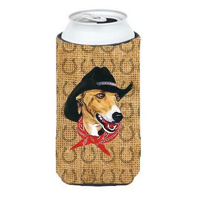 Greyhound Dog Country Lucky Horseshoe Tall Boy bottle sleeve Hugger 22 To 24 oz.