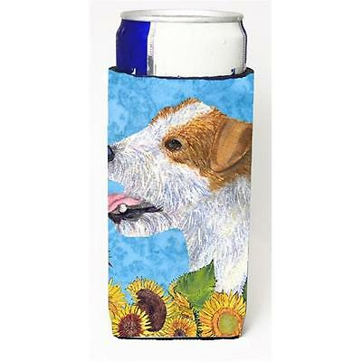 Jack Russell Terrier In Summer Flowers Michelob Ultra bottle sleeves For Slim...