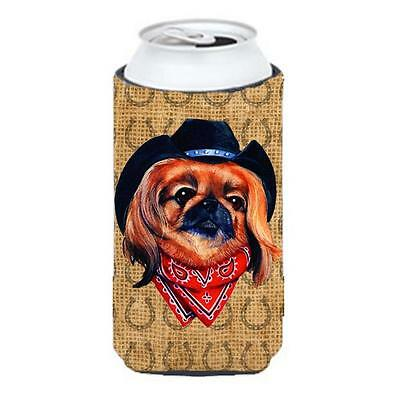 Pekingese Dog Country Lucky Horseshoe Tall Boy bottle sleeve Hugger 22 To 24 oz.