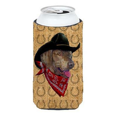 Weimaraner Dog Country Lucky Horseshoe Tall Boy bottle sleeve Hugger 22 To 24...