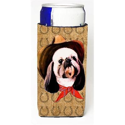 Shih Tzu Dog Country Lucky Horseshoe Michelob Ultra bottle sleeves For Slim C...