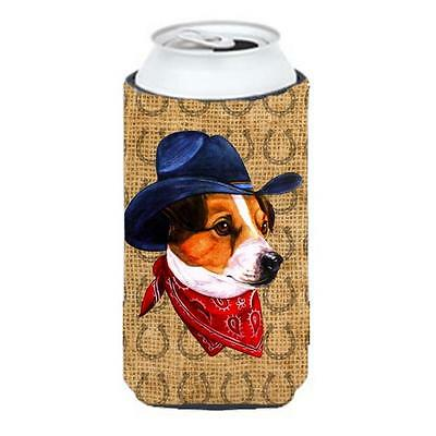 Jack Russell Terrier Dog Country Lucky Horseshoe Tall Boy bottle sleeve Hugge...